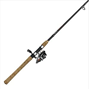 Quantum PT Reliance Spinning Reel and Fishing Rod Combo, Graphite Rod with Cork Handle, Saltwater or Freshwater Ready with Fully Sealed Fishing Reel, Multi, One Size