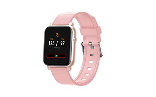 French Connection F1 (Color : Pink ) Touch screen Unisex Metal case Smartwatch with Heart rate &...