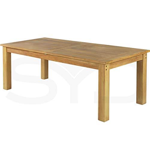 Mesa de Comedor rústica de Teca Grado A. Extensible de 210 a 280cm.
