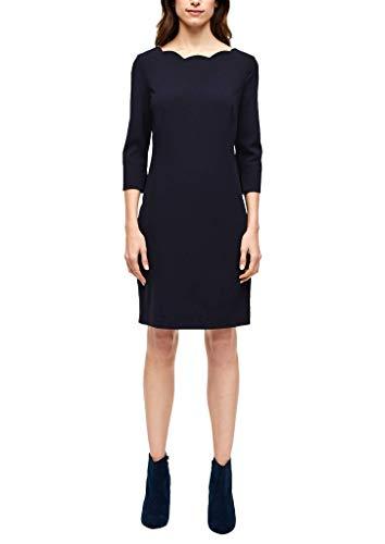 s.Oliver BLACK LABEL Damen Kleid mit U-Ausschnitt dark navy 36