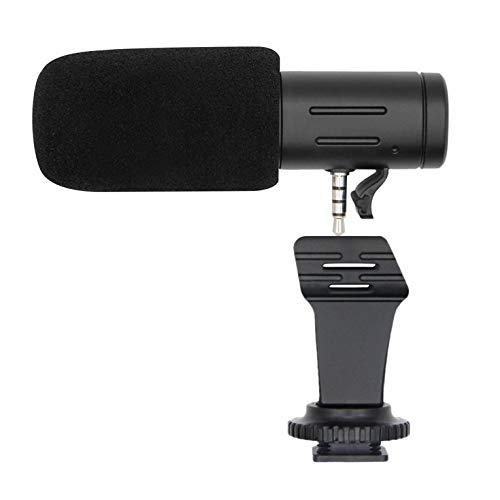 MIC-06 - Micrófono de entrevista para grabación al aire libre HD estéreo videocámara digital de vídeo DV cámara estéreo micrófono