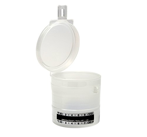1200 Pack - Flip Top Snap Lid Urine Specimen Collection Cup with Hinged Interlocking Latch - 90mL Graduated with Temperature Strip - Made in USA