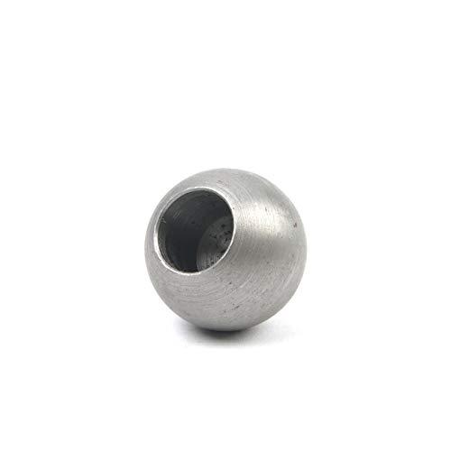 gedrehte Stahl/Eisen Vollkugel mit Bohrung, Qualitätsstahl S235, ST37, Oberfläche gedreht, Ø 25 mm mit Sacklochbohrung Ø 12,5 mm, 10 Stück!