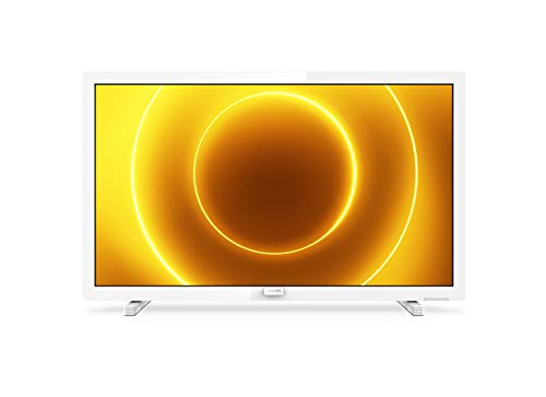 Televisor Philips 24PFS5535/12 24 Pulgadas (60 cm) TV LED (Full HD, Pixel Plus HD, Entrada de 12 V, HMDI, VGA, USB), Color Blanco (Modelo 2020/2021)