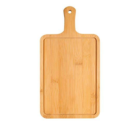 FZYE Bambus-Pizza-Brett für Ofen oder Grill, großes Pizzaschalen-Paddel und Schneidebrett mit Griff für hausgemachtes Pizza-Brot, das Obstgemüse schneidet, 17 cm