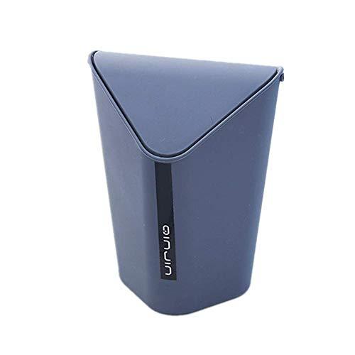 Chytaii Papelera de Escritorio Mini Papelera para Escritorio con Tapa Cubo de Almacenamiento Papelera Oficina Mesa Baño Cocina Moda Simple