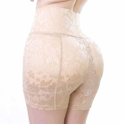 ABUCIYO Mujeres Sexy Push Up Pantías Acolchadas Culo Falso Ropa Interior de Encaje Acolchado Acolchado Nalga Shaper Levantador de Culo Hip MEJORTER (Beige,4XL)