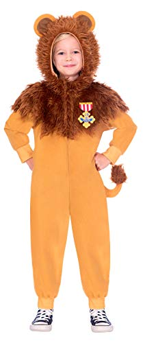 amscan 9906129 Warner Bros Wizard of Oz Lion - Disfraz de león (8-10 años), multicolor