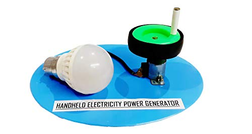 Melody's Handheld Electricity Power Generator DC Dynamo Working Model with Bulb. STEM Activity for School Science Project