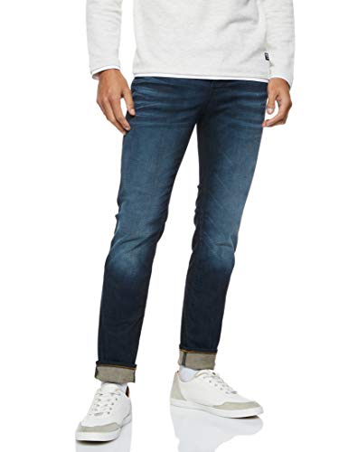 JACK & JONES Male Slim/Straight Fit Jeans Tim ORIGINAL JOS 719 3232Blue Denim