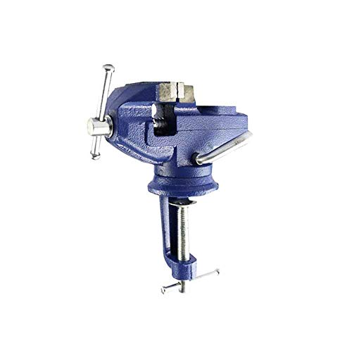 Schraubstock mit Klemme 80MM Tischklemme Hochleistungsamboss Schwenkbar 360 Grad DIY Kiefer Backenschaufel Werkstattklemme