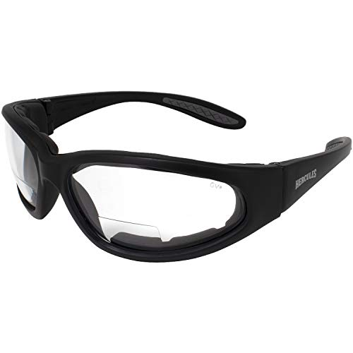 Global Vision Hercules Bifocal Anti-Fog Safety Glasses with EVA Foam, Clear Lens (2.50)