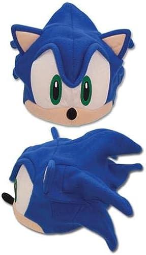 mas preferencial Sonic the Hedgehog Hedgehog Hedgehog Sonic Face Fleece Cap by GE Animation  ahorra hasta un 70%
