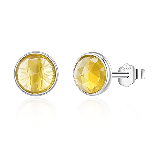 Pendientes Mujer Gotas De Plata De Ley 925 con Piedra Natal De Abril Aretes De Cristal De Roca para Mujer Joyería De Moda Silver 1