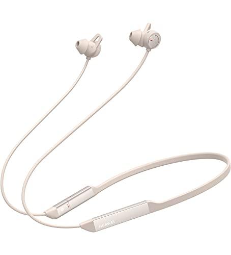 Huawei FreeLace Pro Auricolare Wireless, Cancellazione Attiva del Rumore Dual-Mic, In-Ear, Bluetooth, Bianco