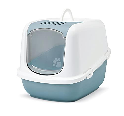 PETGARD XXL Katzentoilette Nestor Jumbo Weiss-hellblau speziell für große Katzenrassen