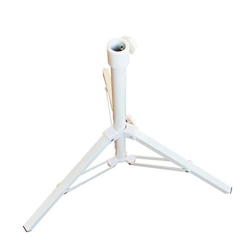 Kaiyei Pied de parasol pliable à 3 pieds avec fixation rotative robuste pour terrasse, cour, balcon, plage Blanc 54 cm x 8,5 cm
