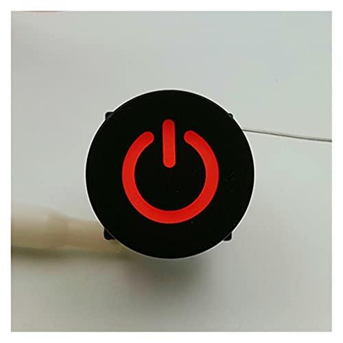 Jgzwlkj Interruptores de botón Símbolo Redondo de la Serie TS27 de 15 mm con el botón MUMPARIO LED PWB Push BOTÓN Pulso Haga Clic en el Interruptor TACT (Color : Red LED)