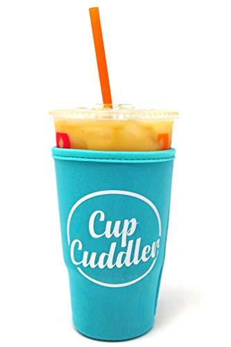 CupCuddler Iced Coffee Isoliertasche I Wiederverwendbare Neopren Getränke-Isolierung hält EIS Getränke kalt I Java Untersetzer I für Dunkin Donuts Starbucks McDonalds und mehr Large blau