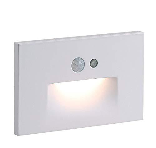 Cloudy Bay 120V Motion Sensor LED Step Light with Photocell,3000K Warm White 3W Stair Light