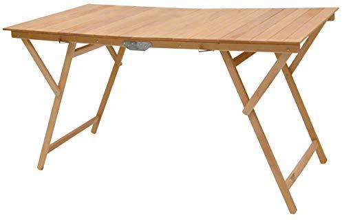 Table pliante en bois de hêtre naturel 70 x 140 cm Camping maison