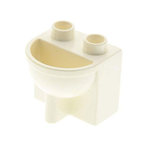 1 x Lego Duplo Möbel Waschbecken weiss Puppenhaus Badezimmer Bad 4892
