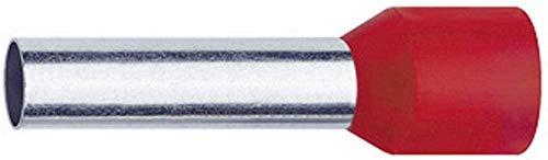 Klauke 47618 Aderendhülse 10 mm² Teilisoliert Rot 100 St.