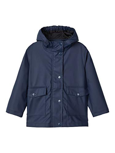 NAME IT Unisex NMNMIL RAIN JACKET1 Camp Regenmantel, Dress Blues, 104