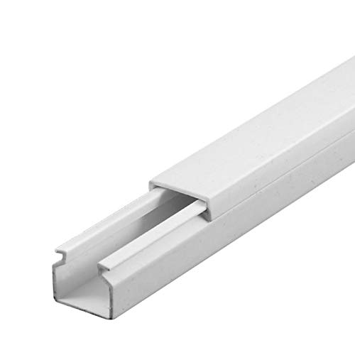 SCOS Smartcosat 10 m Kabelkanal (12 x 12 mm H x B 10x 1 m) Selbstklebend PVC Kunststoff, Aufputz für Wand Montage allzweck Kabelleiste, Kabelschacht