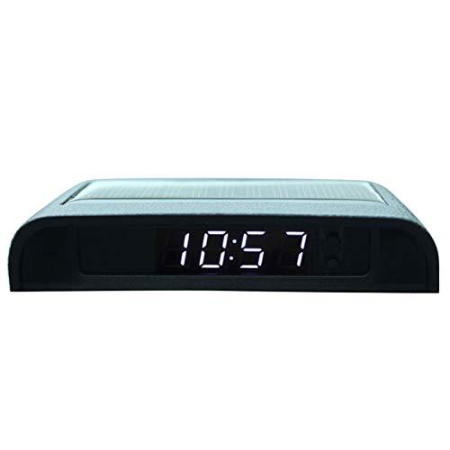 Car Digital Auto Clock - Solarbetriebene Batterie zum Aufkleben rund um die Uhr mit elektronischem Thermometer-Autozubehör