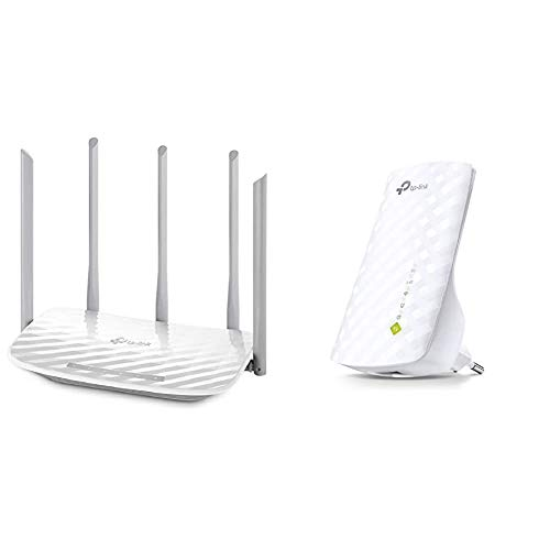 TP-Link RE200 Ripetitore WiFi, Range Extender Universale, Wi-Fi Dual Band AC750, 750 Mbps