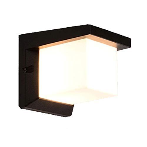 Wandlamp binnen zwart moderne, minimalistische, waterdichte, superheldere buitenwandlamp met trapgang en balkonverlichting voor de binnenplaats Parvilla