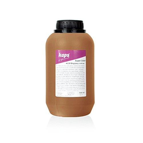 Lederfarbe für Naturleder, Sythetik und Textil. Entwickelt Super Color Kaps 500ml, Braunzucker 120