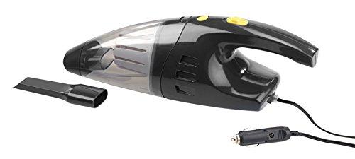 Lescars Aspiradora de coche: Aspirador de coche seco y húmedo sin bolsa para conexión de 12 V, 100 W (Vehículo aspiradora)