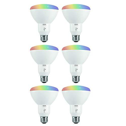 Sylvania Osram Lightify Smart Home 65W BR30 White/Color LED Light Bulb (6 Bulbs)