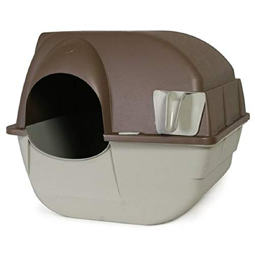Omega Paw Self-Cleaning Litter Box, Pewter (1 Pack Regular)