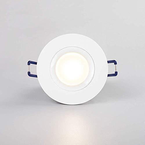 Hermoso LED Downlight Spotlight Panel Light IP65 Sala de ducha a prueba de agua Downlight 5W Luz cálida 3000K LED Luz de techo incorporada incorporada Baño Cocina de baño y Baño Luces de techo para ca