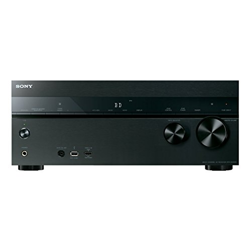 Sony STR-DN1050 7.2 Kanal Receiver (4K Upscaling, 3D, 6x HDMI IN, 2x HDMI OUT, GUI, WLAN integriert, Bluetooth, NFC, AirPlay, DLNA, Internetradio, Spotify) schwarz