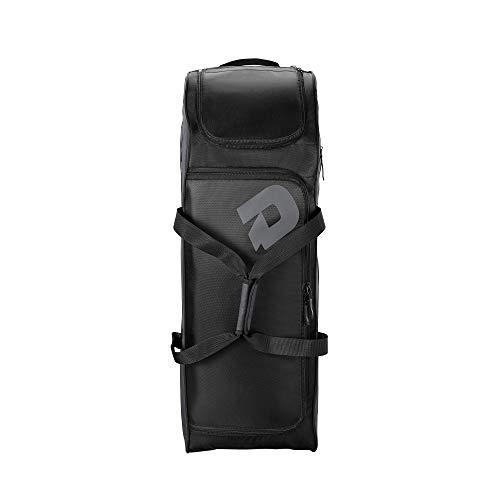 Wilson Baseball-Reisetasche, Momentum Wheeled Bag 2.0, Für bis zu 4 Schläger, Mobil dank Räder, WTD9506BL