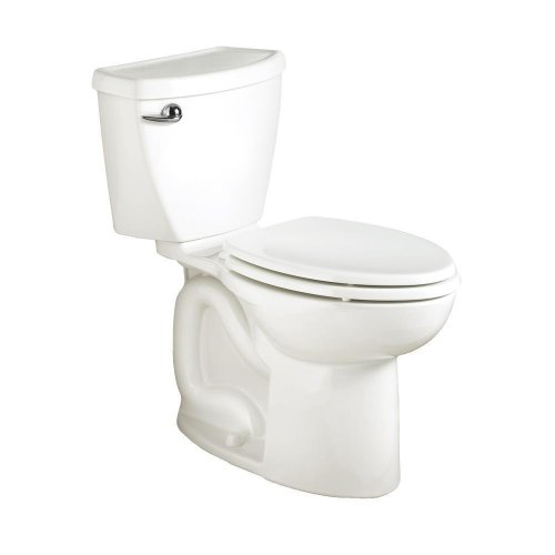 American Standard Cadet 3 Right Height Elongated Flowise Two-Piece High Efficiency Toilet with 12-Inch Rough-In, White White