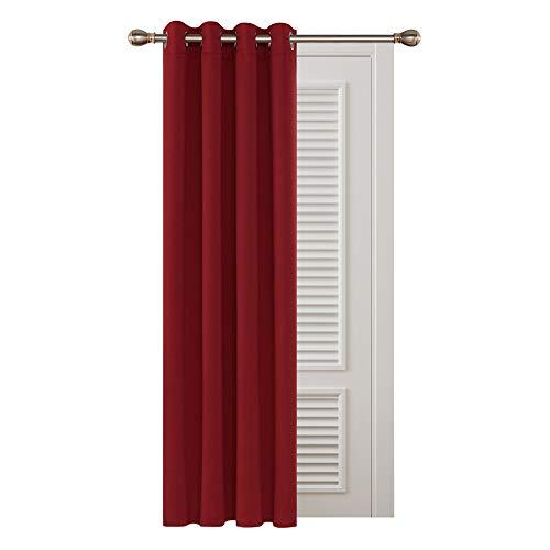 Deconovo Rideau à Oeillet Rideau Isolant Thermique Rideau Occultant pour Nursery 132x213cm Rouge