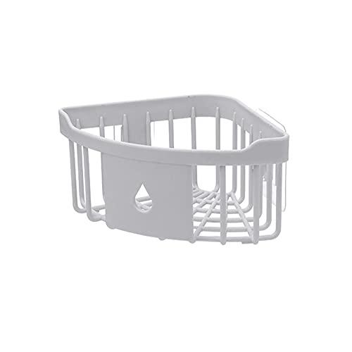 PPCERY Plástico Esquina Almacenamiento Rack Cocina Organizador Estante Fregadero Esponja Cepillo Soporte baño Esquema de baño Esmalte de Almacenamiento (Color : Light Grey, Size : 20 * 6 * 14CM)