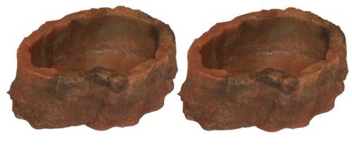 Namiba Terra 25701 voederbak, 11 x 9 x 5 cm dubbelpak, rood