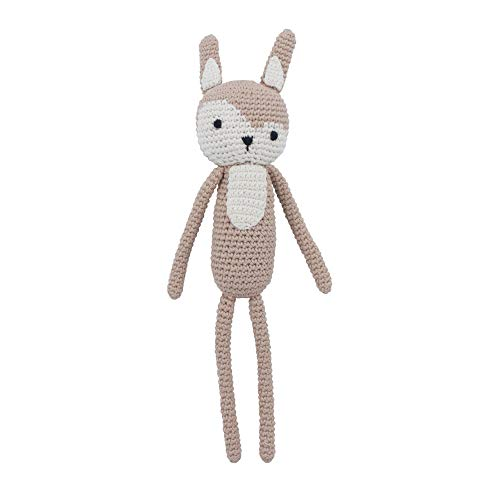 Sebra - Häkeltier, Kuscheltier, Stofftier - von Hand gehäkelt - Siggy das Kaninchen - Birchbark Beige