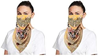 NestRoots Cloth pack of 2 Face Mask scarff Washable Reusable Face Masks Outdoor Protection   Soft Earloop/Mouth Nose cover...