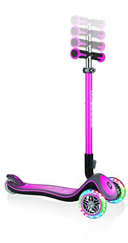 Sk8teforyou Unisex Jugend Globber Elite Lights Deluxe Kinderfahrrad, rosa, 1size