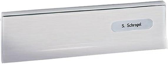 RENZ /Enkele brievenbus voor deuren & poorten/RAL-kleur / 8 liter doorwerpbrievenbus met tochtborstel, roestvrij staal V4...
