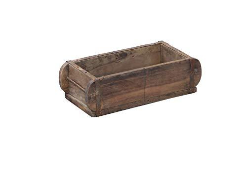Nordal Ziegelform Brick aus recyceltem Holz rustikaler Look Holzbox Dekokojekt, 15 x 32cm