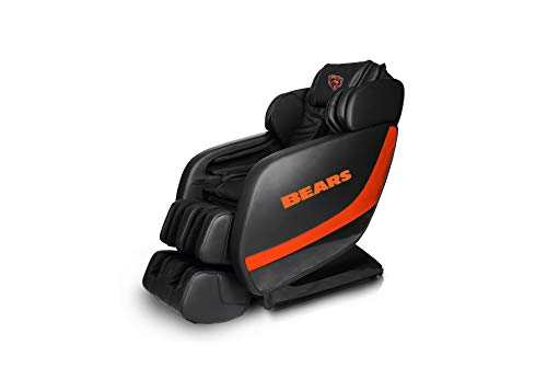 Best Deals! NFL Electric Full Body Shiatsu Massage Chair Foot Roller Zero Gravity Wheat (Chicago Bea...