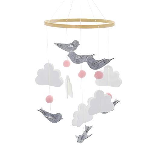 Baby Windspiel Junge, Baby Windspiel, Mobile für Babybett, Mobile Krippe, Krippe Mobile für Jungen und Mädchen (Rosa Taube)